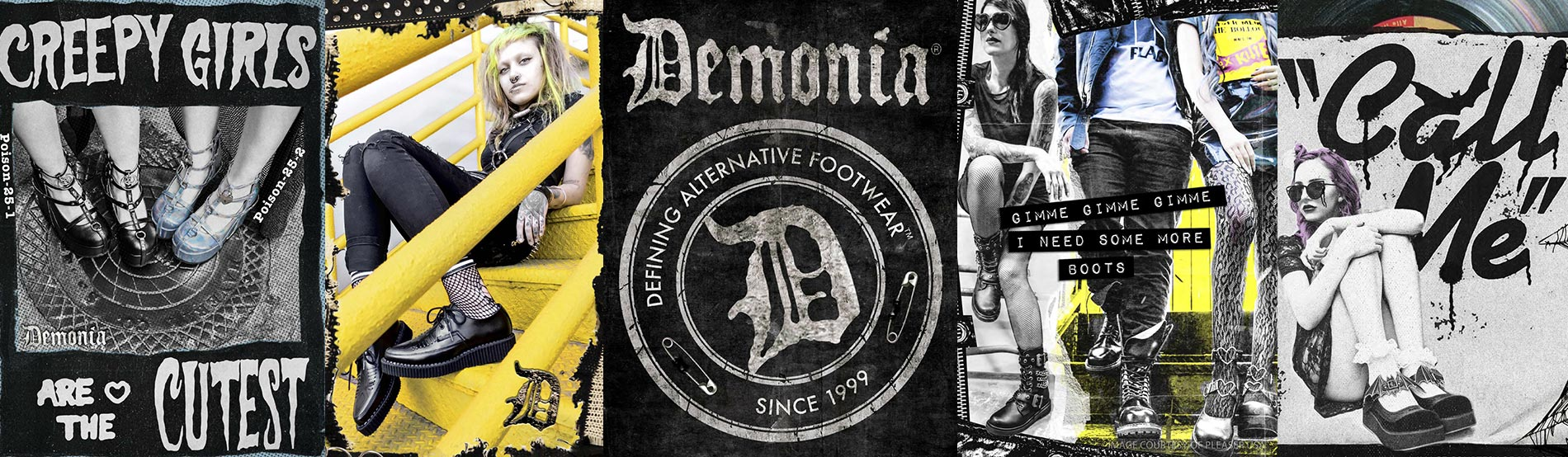 Authentic Gothic Footwear by Demonia
