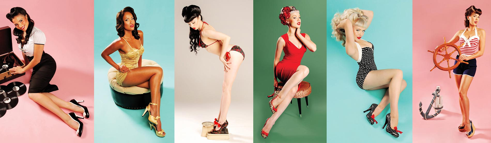 Vintage Retro Footwear by Pin Up Couture
